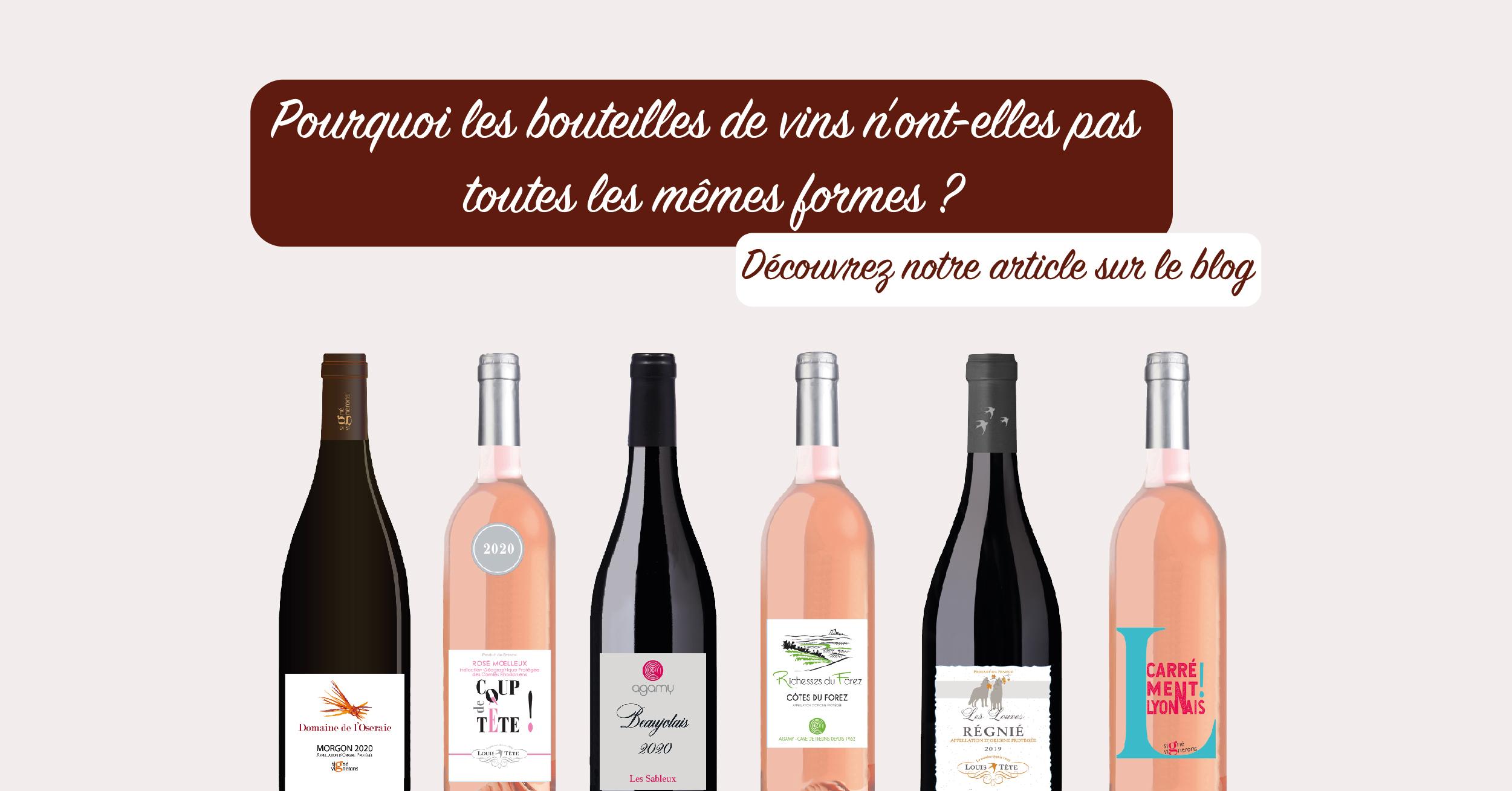 Les différentes formes de bouteilles de vin